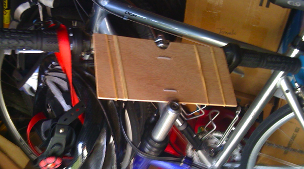 A Homemade Map Holder For My Bicycle Early Retirement Extreme A - Map my bike